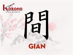 Kanji 間 -  Gian - Trung gian, không gian
