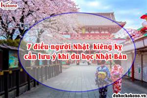 7 điều người Nhật  kiêng kỵ cần lưu ý khi du học Nhật Bản