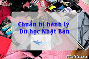 Nên có gì trong hành lý của một tân du học sinh Du học Nhật Bản?