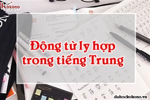 Động từ ly hợp trong tiếng Trung là gì?