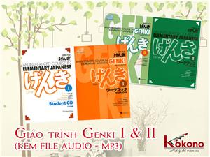 Giáo trình Genki I & II - Trọn bộ 4 cuốn (Kèm Audio)