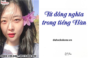 Phân biệt một số từ đồng nghĩa trong tiếng Hàn