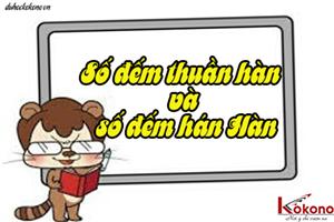 Học tiếng Hàn cơ bản: Số đếm thuần hàn và số đếm hán Hàn