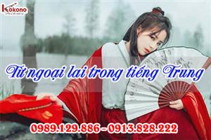 Từ ngoại lai thường gặp trong tiếng Trung