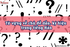 Từ vựng về chủ đề dấu, ký hiệu trong tiếng Hàn