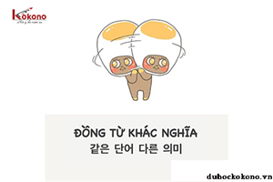 Một số từ vựng đồng âm khác nghĩa trong tiếng Hàn