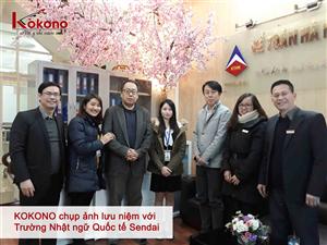 Trường Nhật ngữ Quốc tế Sendai thăm và làm việc tại Kokono - Tháng 02/2018
