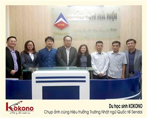 KOKONO làm việc và phỏng vấn với Hiệu trưởng Trường Nhật ngữ Quốc tế Sendai