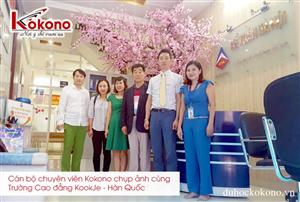 Trường Cao đẳng KookJe - Hàn Quốc làm viêc cùng Kokono