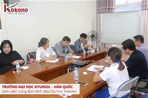 Trường Đại học Kyungil làm việc với Ban lãnh đạo Du học Kokono